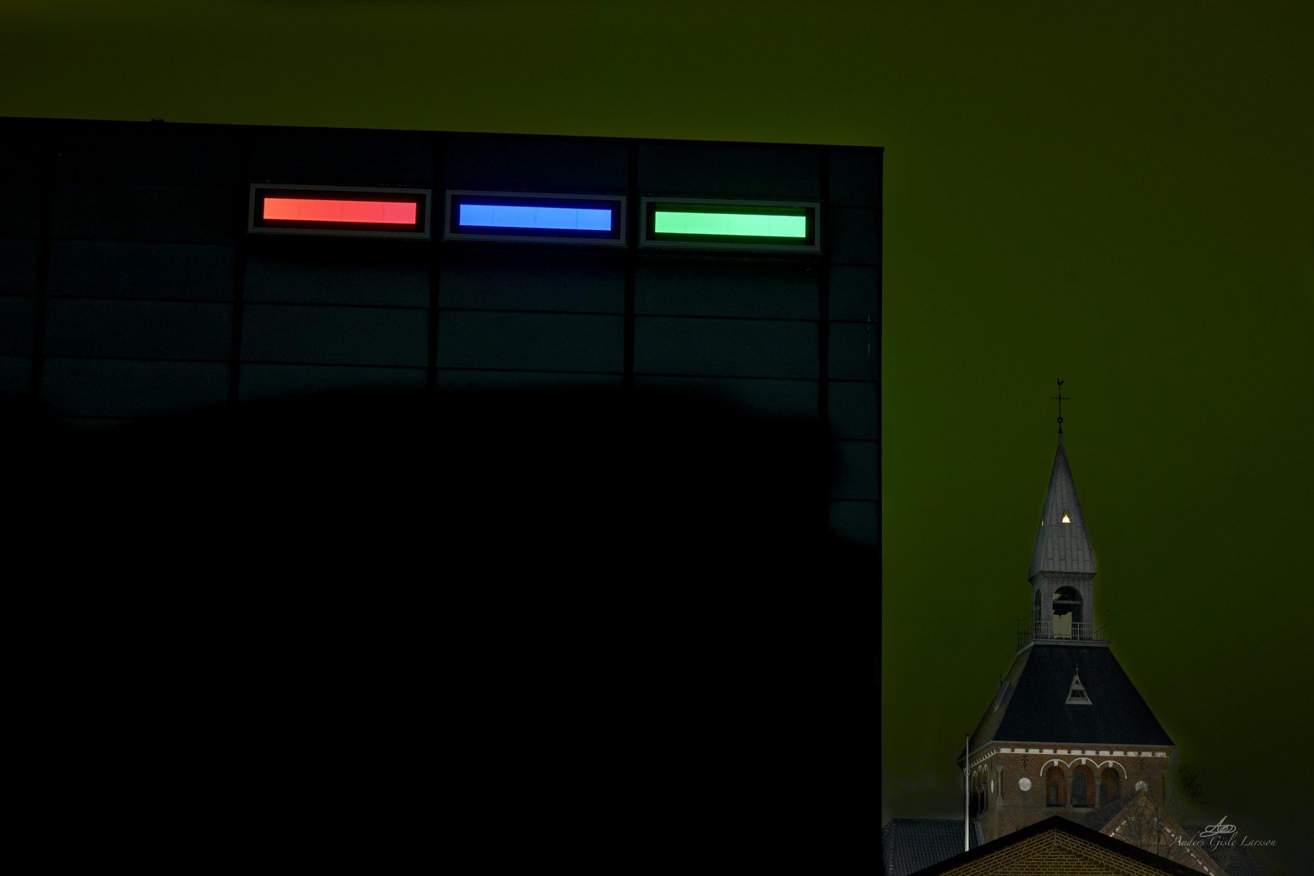 Signal, Aften billeder, Uge 7, 44/365, Værket + Sct. Peders Kirke, Randers