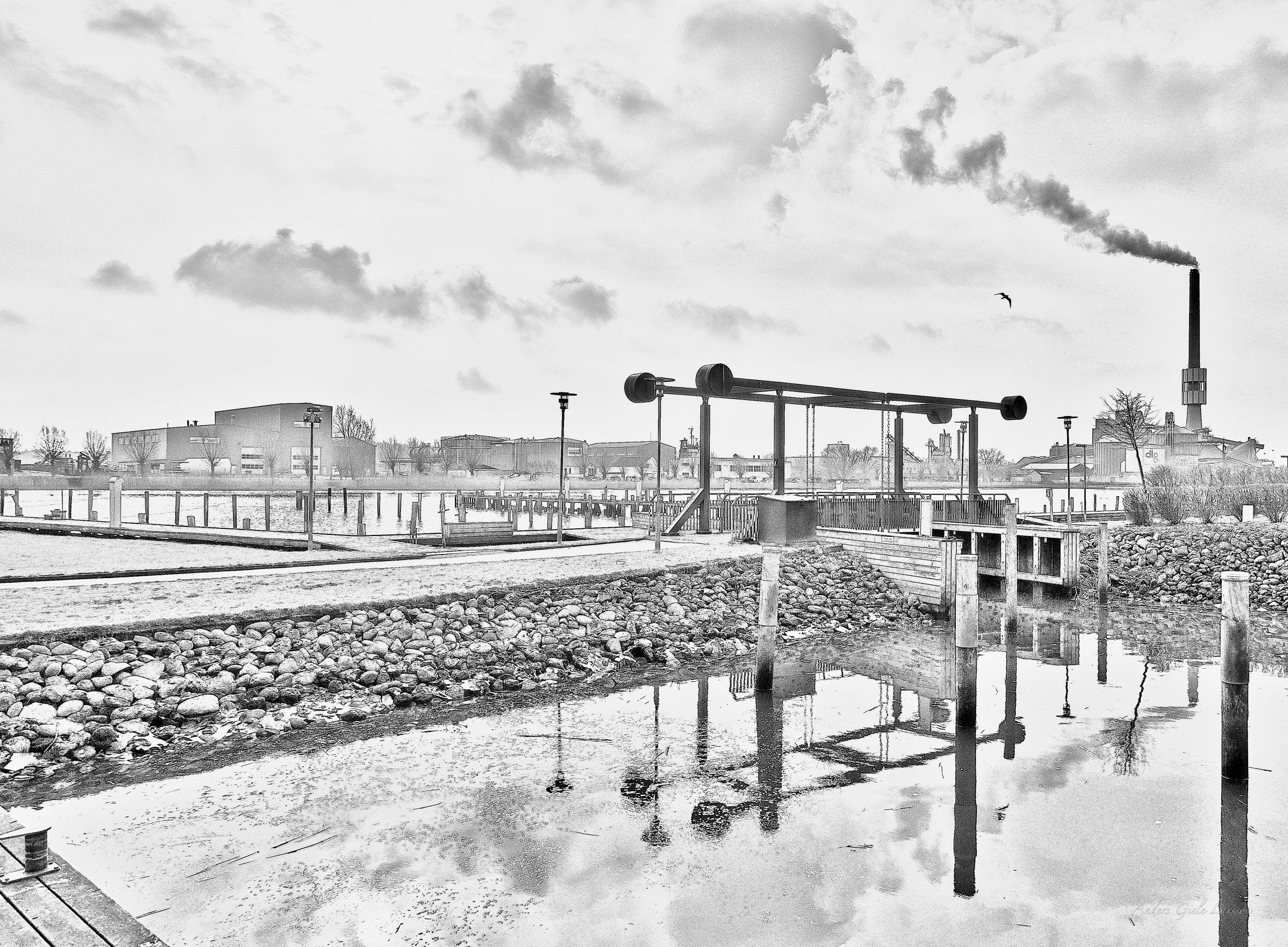 Spejling, Kontur, Uge 8, 52/365, Lystbådehavnen, Randers